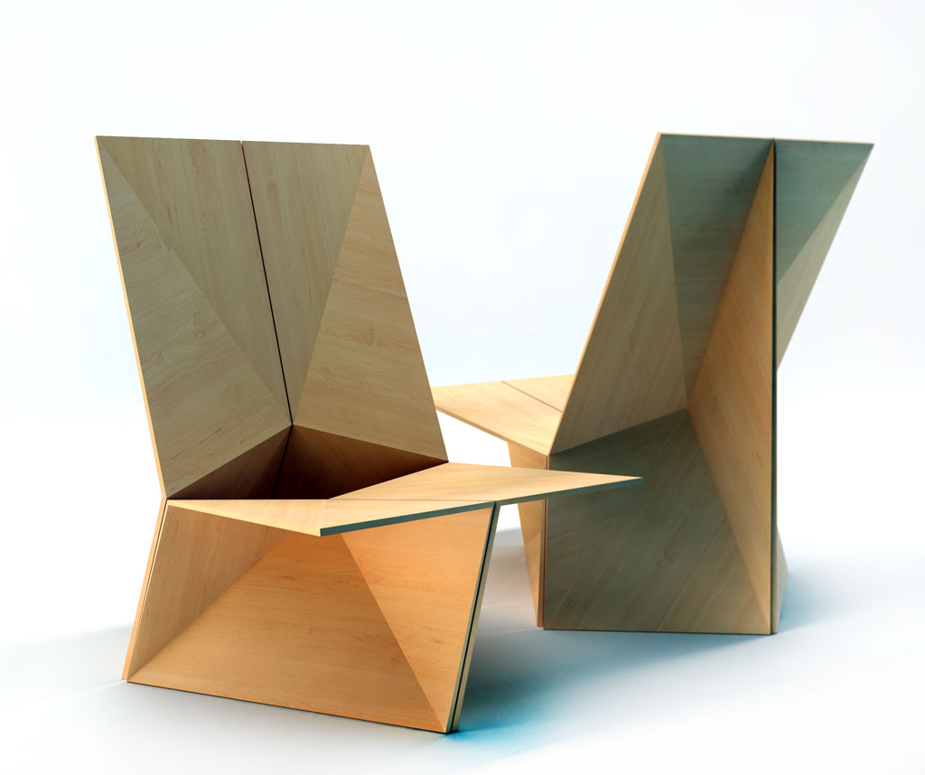 The folded chair plain plywood chair velichko velikov design web home - Chairs design ...