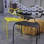 torro chair in black and electric yellow