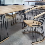 Geometry table and chair