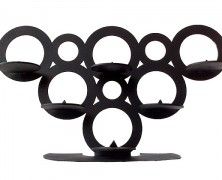 The CIRCLES candle holder – laser cut powder coated or stainless steel candle holder