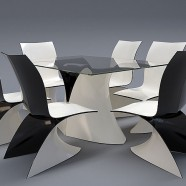 Wave chair and a table set